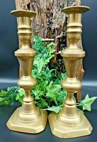 Pair of Brass Candlesticks Vintage Candle Holders