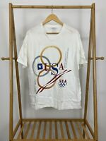 VTG 1996 One Hundred Years Of USA Olympic Team White T-Shirt Size XL