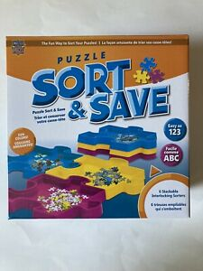 MasterPieces Sort  & Save Puzzle Piece 6 Stackable Interlocking Sorting Trays