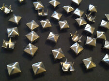 CraftbuddyUS 100*5mm x SILVER Pyramid, Punk, Rock, Leather Bag Shoe Studs CRAFT