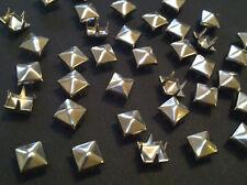 CraftbuddyUS 100*5mm x SILVER Pyramid, Punk, Rock, Leather Bag Shoe Studs CRAFT