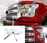 2X Chrome Front headlight front lamp cover trim for 15-17 Ford F150 Accessories