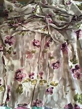 2 Extra Long Sheer Purple Floral Panels/Drapes ~ 212� By 52�