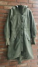 Sz 8, DIVIDED H&M 8 Hooded Jacket Parka Coat Green Military style