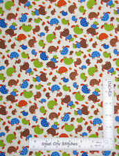 Turtle Animals Toss Cream Cotton Fabric Timeless Treasures C5764 By The Yard