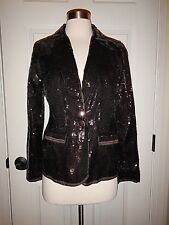 NEW MSRP $149 Chico's 0 = Sz 4 Shining Tuxe Timberglass Sequins Sheron Jacket