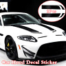 2x 85cm Car Bonnet Hood Racing Sports Stripe Styling Stickers Vinyl Decal Black