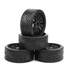 4PCs Black Flat Off Road Wheels &Tires Foam Insert For 1/8 Scale RC Car Buggy