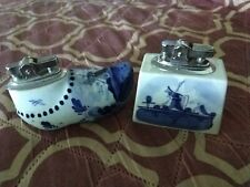Vintage Table or Hand Lighter Clog Shoe & Windmill Hand Painted Holland