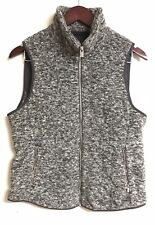 Abercrombie And Fitch Women Grey Gray Vest With Zippered Pockets Size M