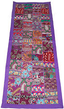 "60"" Purple Wall Hanging Patchwork Runner Tapestry INDIAN Throw Boho Decorative"