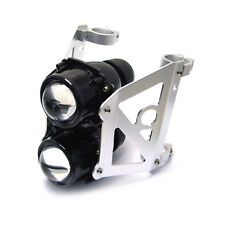 Motorbike Headlight Streetfighter Projector Set-Dual Stacked Projector 36-37mm