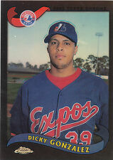 2002 Topps Chrome Traded Black Refractor Dicky Gonzalez Montreal Expos 078/100