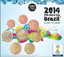 FRANCE Mini Set BU Coupe du Monde de Football FIFA 2014 - tirage 500 ex
