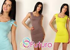Sexy Women's Mini Dress Sleeveless Bodycon Scoop Neck Tunic Size 8-12 8966