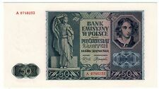 Pologne POLAND Billet 50 ZLOTYCH 1941 P102 WWII GERMAN OCCUPATION QUASI NEUF AU