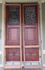 "Original PAIR 1880 Victorian Screen Door Frames 108"" Tall"