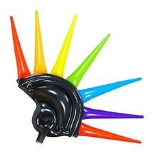 Inflatable Multicolour Helmet Spikes Helmet - Adutl Fancy Dress Accessory -