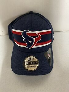 NWT Houston Texans New Era Sideline 39THIRTY Flex Fitted Hat Cap Size M/L