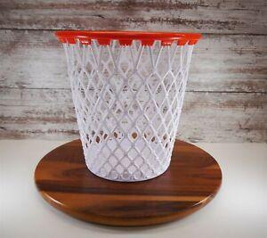 """SPALDING Basketball Hoop / Net 12"""" Waste Basket ~ WPBA Garbage Shot ~ Nice! [#2]"""