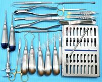 GERMAN 23 PC ORAL DENTAL SURGERY EXTRACTING ELEVATORS FORCEPS INSTRUMENT KIT SET