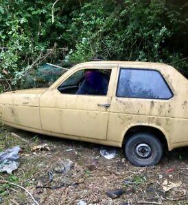 Reliant Robin Mk 1. Classic car. Barn find. Project.