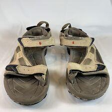 TEVA Mens US 8 Tan Suede Adjustable Straps Sport Sandals S/N 6963