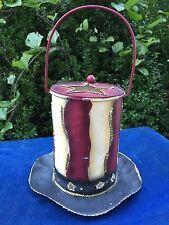Primitive Lantern Top Hat Abraham Lincoln Yankee Candle Metal Tealight Holder