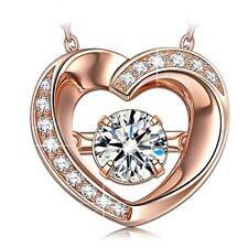 Cadena corazón medalla para Dia de las madres, san valentin, aniversario chapado