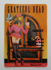 Grateful Dead Backstage Pass Las Vegas 6/26/1994 Sexy Girl Maid Room Service #13