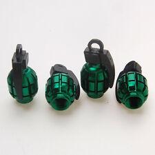 4x Green Grenade Motorcycle Tyre Tire Wheel Valve Stem Dust Cap Cover For RAV4