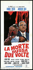 LA MORTE BUSSA DUE VOLTE (A) LOCANDINA CINEMA FILM CELI ANITA EKBERG GIALLO 1971