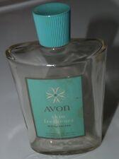 "Vintage AVON Skin Refresher EMPTY 4 oz Bottle CLEAR GLASS 4.75"" Tall"