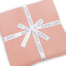 """Display - Super Cozy 100% bamboo fiber blanket. King Size 108 x 90"""". Dusty Coral"""