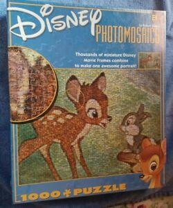 Disney Photomosaics Jigsaw Puzzle 27x20 Bambi & Thumper 1000 pc new-sealed