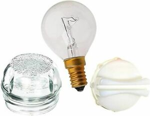 Oven Lamp Glass Light Bulb with Cover & Removal Tool For Bosch Neff Siemens