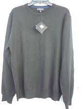Saks 5th Avenue men's crew neck 100% Merino wool sweater black NEW!