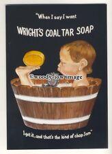 ad3499 - Wrights Coal Tar Soap - Little Boy In Bath Tub - Modern Advert Postcard