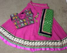 Navaratri Special Chaniya-Choli (Lehnga Choli) in Pink and Green color