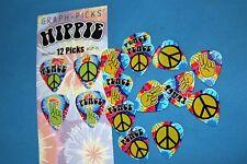 Graphic Picks Hippie Guitar Picks, 12 Picks per Pack, Medium Gauge, MPN GP-H