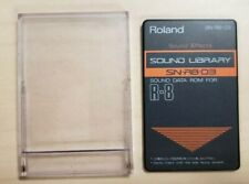Roland SN-R8-03 Sound Effects Sound Library Sound Data Rom for R-8 includes Case