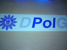 Polizei DpolG DBB Banner Aufkleber Plakat Sammler deutsche Polizeigewerkschaft