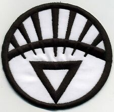"3.5"" White Lantern Corps Classic Style Embroidered Iron-on Patch"