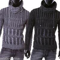 Herren Strickpullover Grobstrick Winterjacke jacke Pullover Pulli L.8.8 [1004]