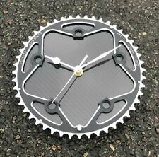 Carbon fibre disc wall clock cycling cyclist Fathers day Tour de France gift