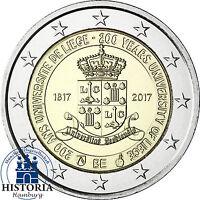 Belgien 2 Euro 200 Jahre Universität Lüttich 2017 Stgl Münze in Münzkapsel