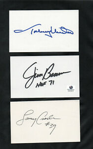 LARRY CSONKA MIAMI DOLPHINS RB HOF AUTOGRAPHED SIGNED INDEX CARD 3X5