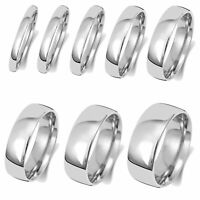 Solid 18ct Carat White Gold 2,2.5,3,4,5,6,7,8mm Slight Court Wedding Band/Ring