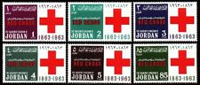 Jordanien Jordan 1963 ** Mi.409/14 A Rotes Kreuz Red Cross Inschrift Inscription