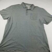 Travis Mathew Mens 2XL Short Sleeve Golf Polo Shirt Size XXLarge Light Gray